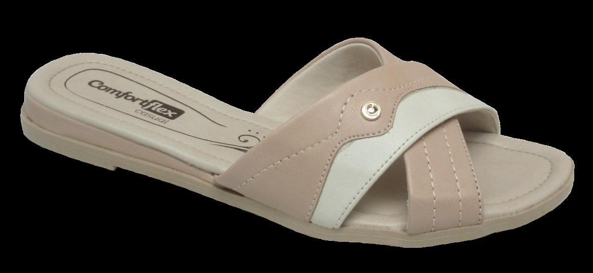 dbd8904ca Chinelo Feminino Comfortflex 1872401 Nude   Dtalhe Calçados