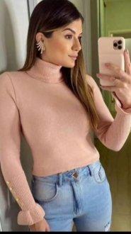 Imagem - Blusa Tricot com botões