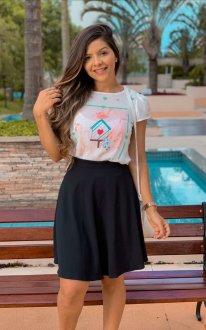 Imagem - T-Shirt Blessing Branca de Passarinho