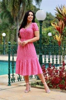 Imagem - Vestido Feminine em Crepe, forrado