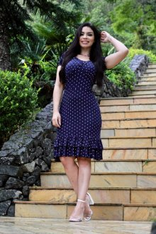 Imagem - Vestido Feminine em Poa