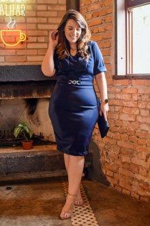 Imagem - Vestido Kauly Plus Size com Recortes