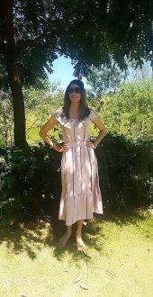 Imagem - Vestido Kitson Rosa Listrado ombro a ombro