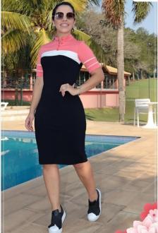 Imagem - Vestido Luciana Pais Sport com Recortes e Botões