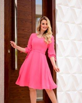 Imagem - Vestido Maria Amore Com Faixa Laço MG Joana