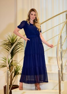 Imagem - Vestido Maria Amore Longo Chiffon Kiara