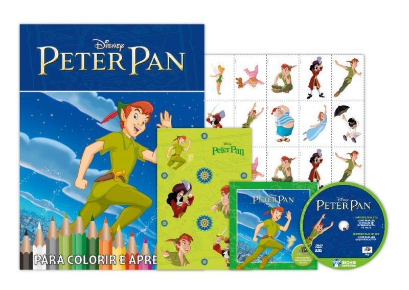 Disney Kit 5 em 1 com DVD - Peter Pan