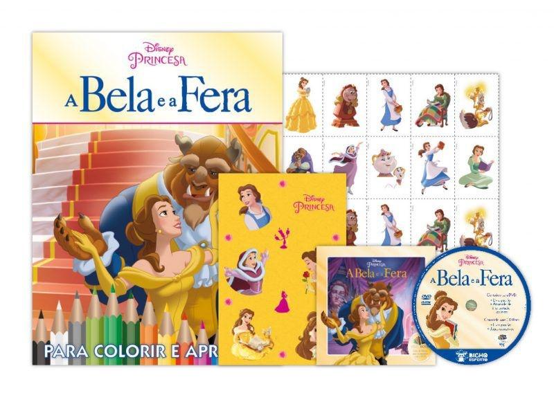 Kit 5 em 1 com DVD Disney - A Bela e a Fera