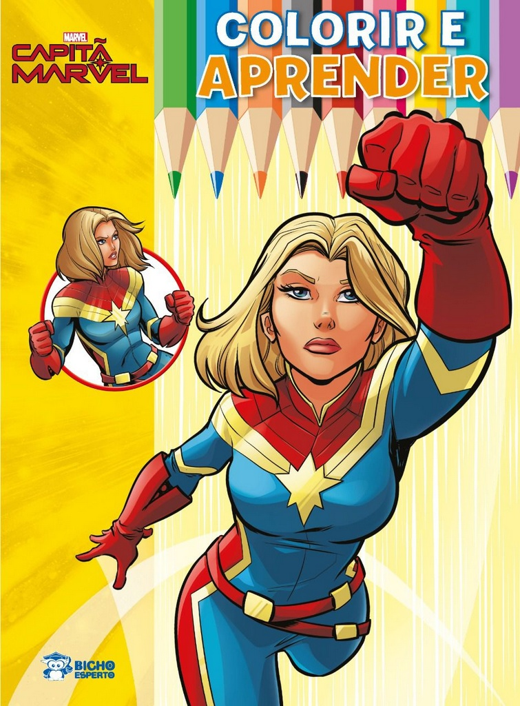 Colorir e Aprender Marvel - Capitã Marvel