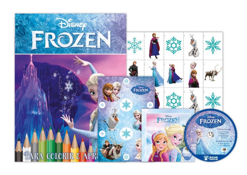 Disney Kit 5 em 1 com DVD - Frozen