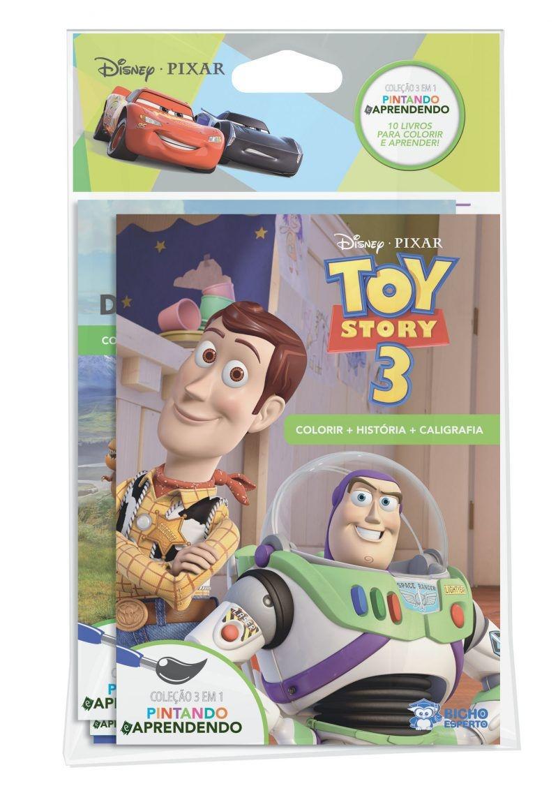 Solapa Média Colorir Disney (Pct 10 livros) - Pixar
