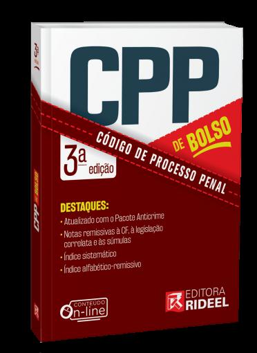 Código de Processo Penal - CPP de bolso - 3ª edição