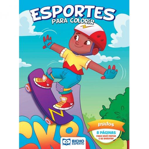 Livro Para Colorir Esportes e Brincadeiras - Irados