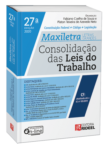 Consolidação das Leis do Trabalho - MAXILETRA - Constituição Federal + Código + Legislação