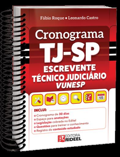 Cronograma TJ-SP Escrevente Técnico Judiciário VUNESP