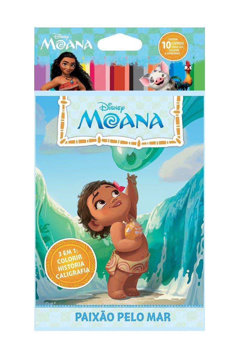 Solapa Média Colorir Disney (Pct 10 livros) - Moana