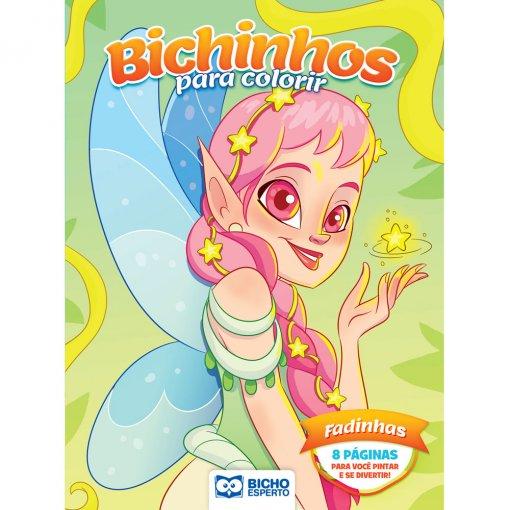 Livro Para Colorir Bichinhos Mágicos - Fadinhas