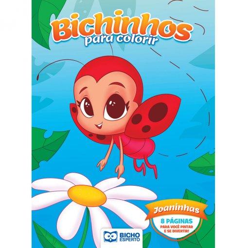 Livro Para Colorir Bichinhos Mágicos - Joaninhas