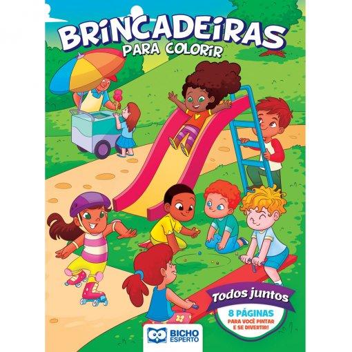 Livro Para Colorir Esportes e Brincadeiras - Todos Juntos
