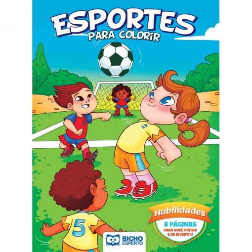 Livro Para Colorir Esportes e Brincadeiras - Habilidades