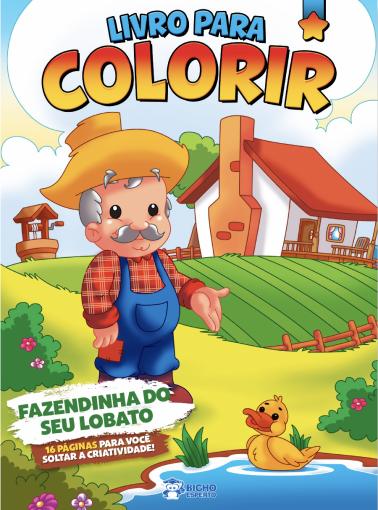 Livro Para Colorir - Fazendinha do Seu Lobato