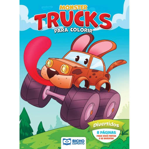 Livro Para Colorir Monster Trucks - Divertidos