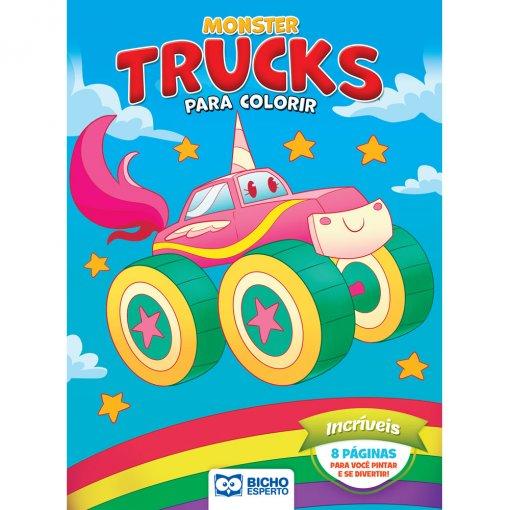 Livro Para Colorir Monster Trucks - Incríveis