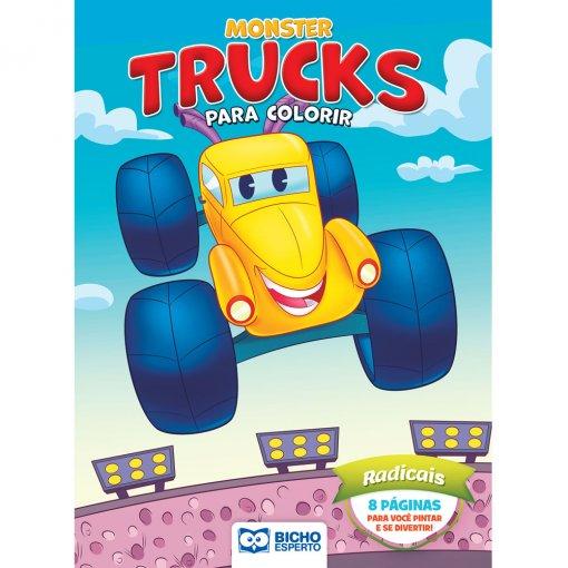 Livro Para Colorir Monster Trucks - Radicais