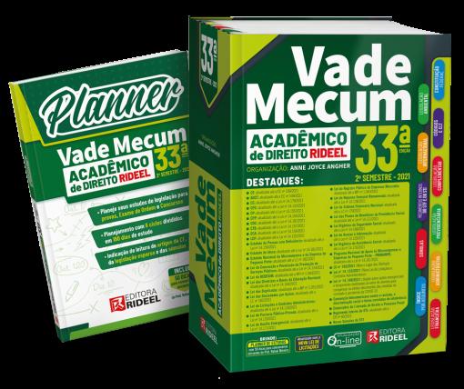 Vade Mecum Acadêmico de Direito Rideel - 33ª edição - 2ª semestre 2021 ACOMPANHA PLANNER