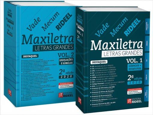 Vade Mecum Maxiletra Rideel - Letras Grandes - 2 volumes