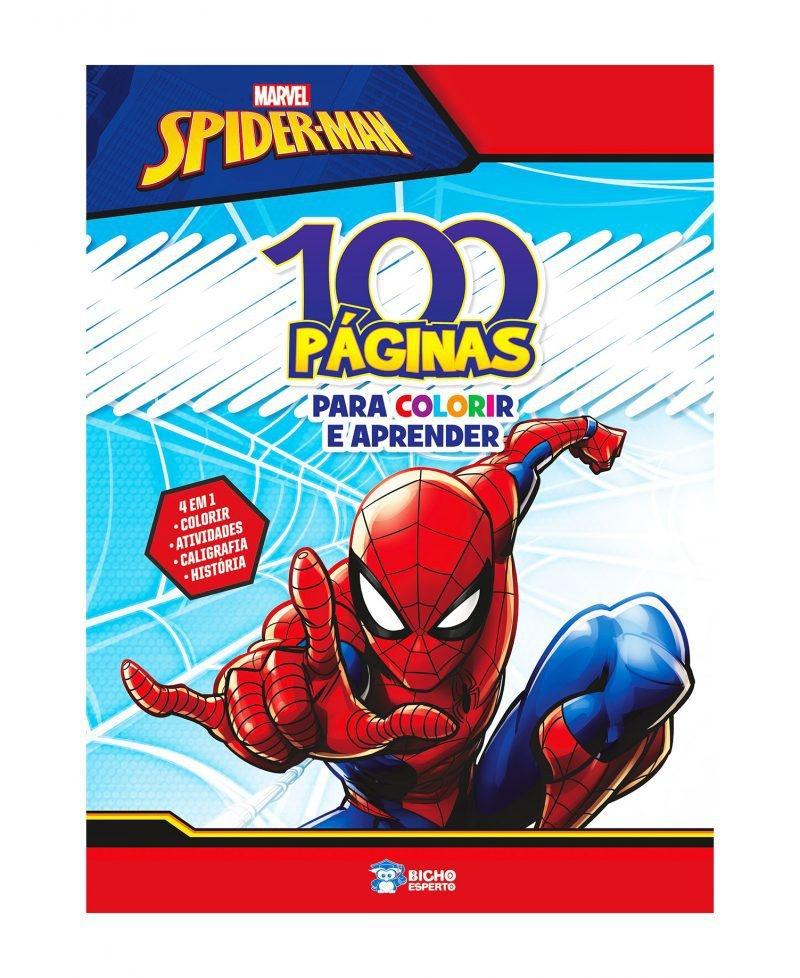 Imagem - 100 Páginas para Colorir Marvel - Homem Aranha cód: 9788533951198