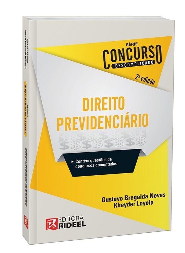 Imagem - Concurso Descomplicado - Direito Previdenciário - 9788533938113
