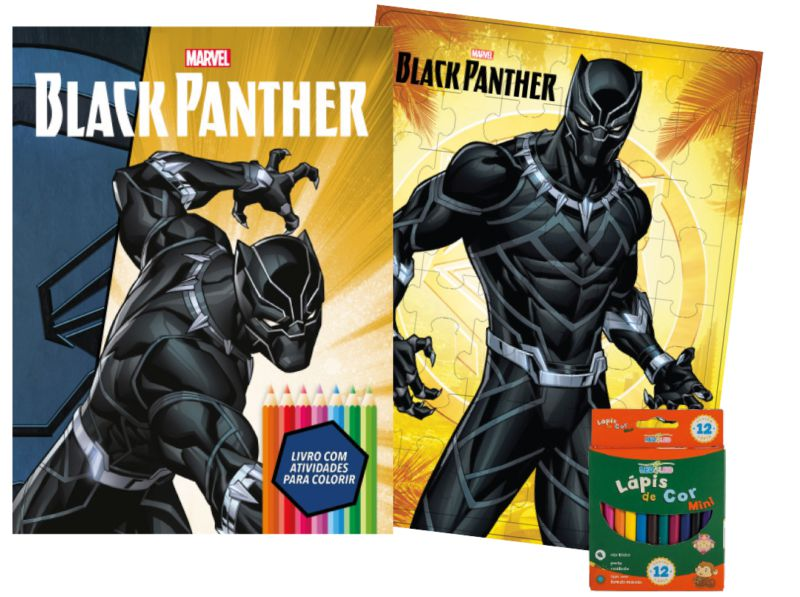 Imagem - Kit Diversão Marvel - Pantera Negra - 9788533951808