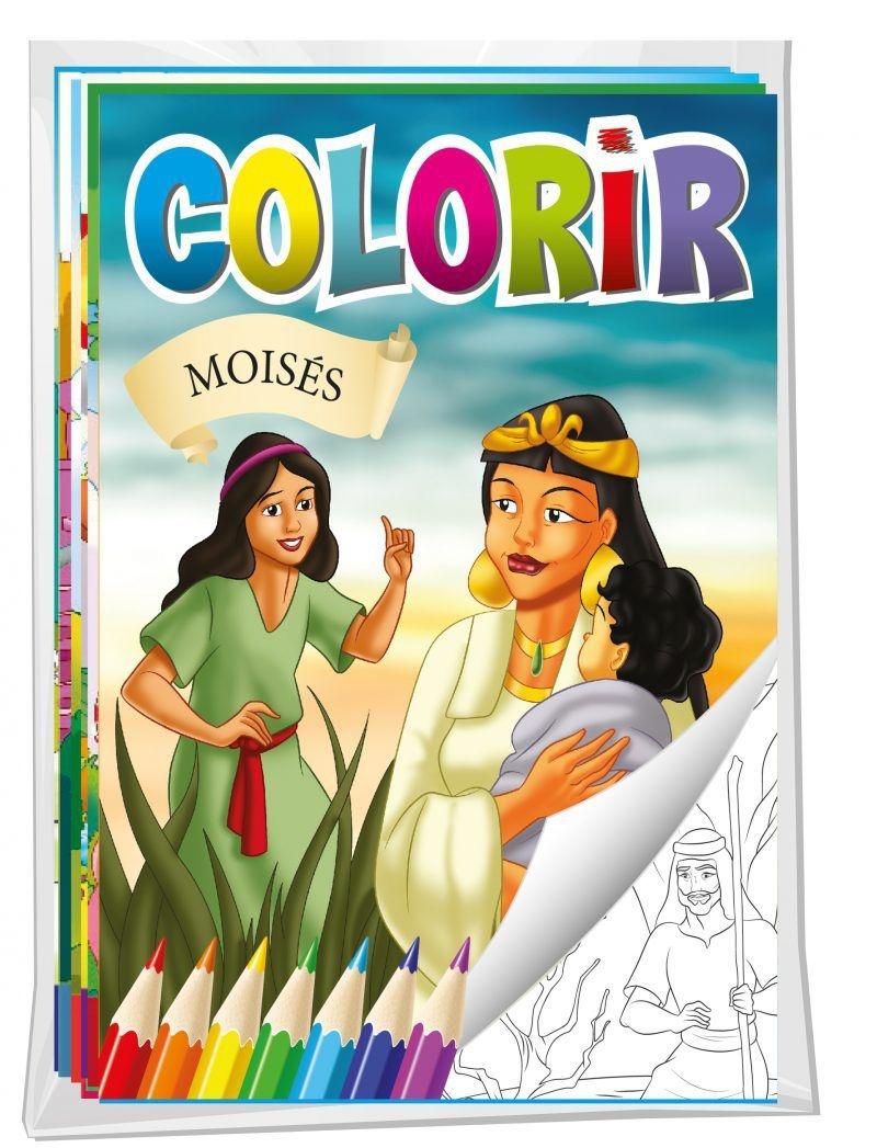 Imagem - Solapa Média Colorir (Pct 08 livros) - Bíblia cód: 9788533933200