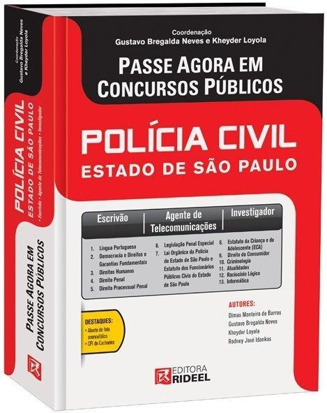 Imagem - Passe Agora em Concursos Públicos - Polícia Civil do Estado de SP - 1ª edição cód: 9788533921238