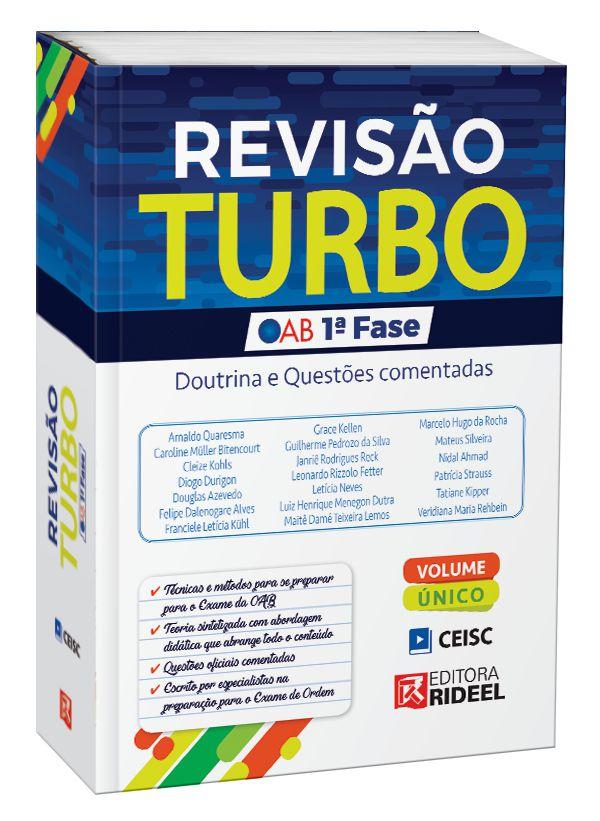 Imagem - Revisão Turbo OAB 1ª fase – Doutrina e Questões Comentadas - 1ª edição - 9788533956018