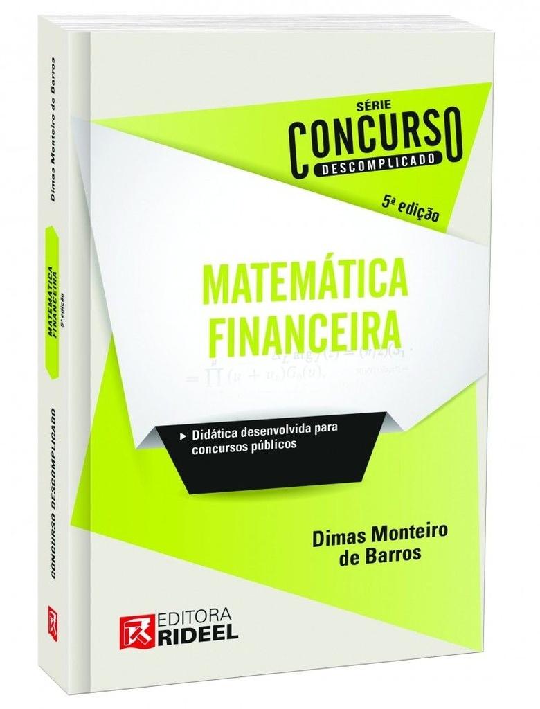Imagem - Concurso Descomplicado - Matemática Financeira  - 9788533931060