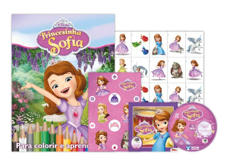 Imagem - Disney Kit 5 em 1 com DVD  - Princesinha Sofia  cód: 9788533950146
