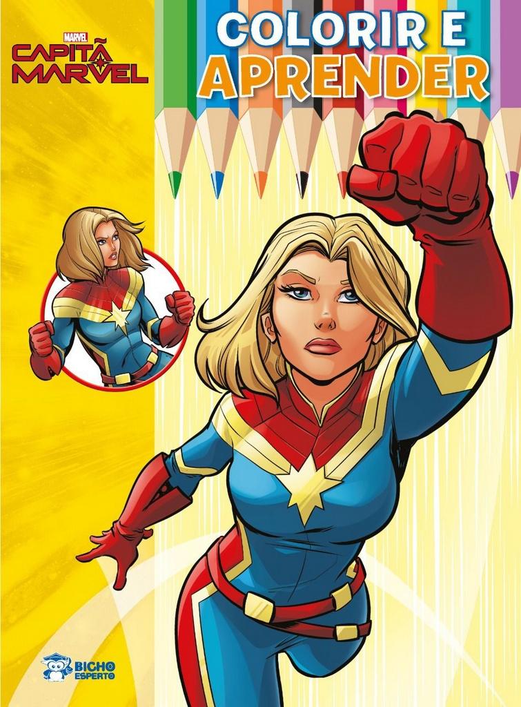 Imagem - Colorir e Aprender Marvel - Capitã Marvel  cód: 9788533956322