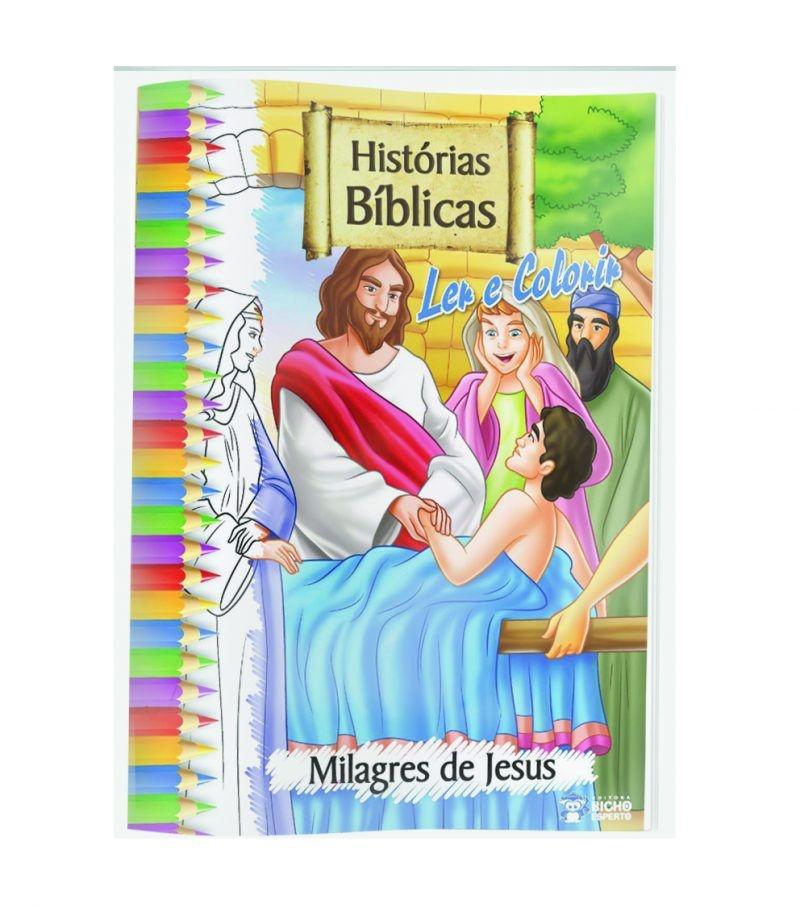 Imagem - Solapa Grande (Pct 10 livros) - Histórias Bíblicas para Ler e Colorir cód: 9788533924802