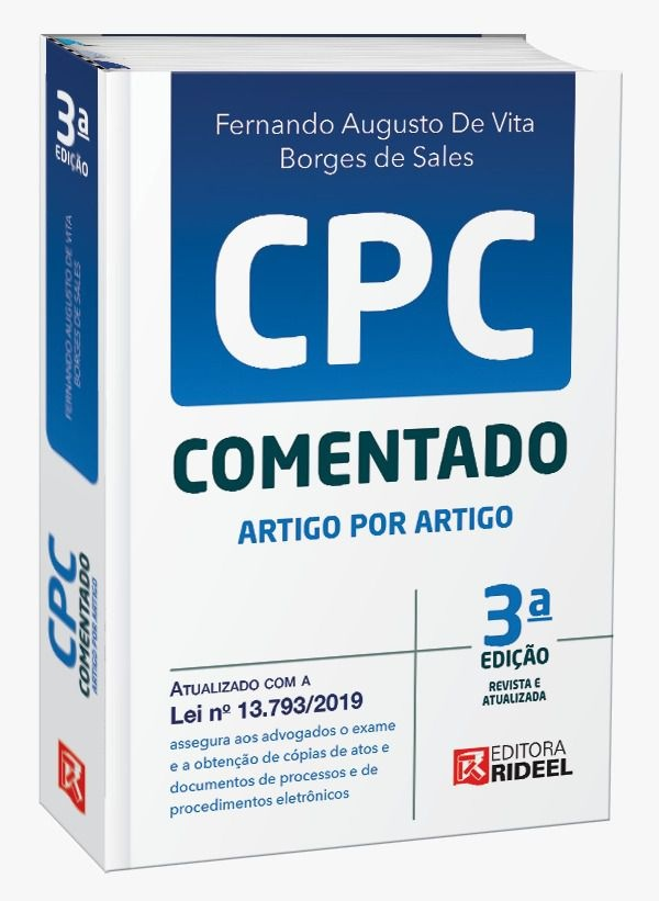 Imagem - CPC comentado Artigo por Artigo  - 9788533950283