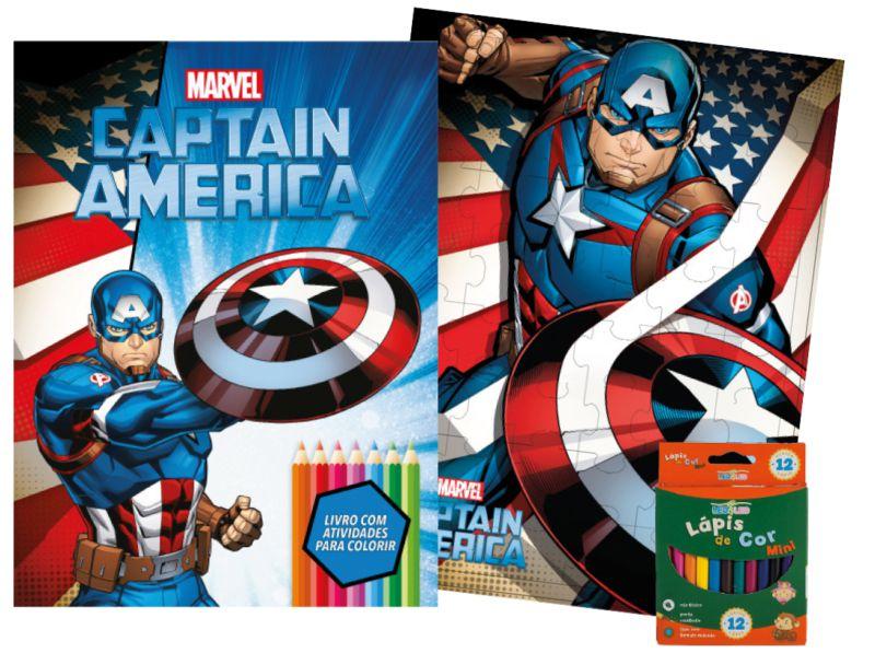 Imagem - Kit Diversão Marvel - Capitão América - 9788533951785