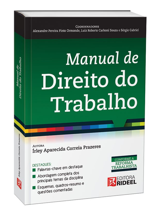 Imagem - Manual de Direito do Trabalho 1ED. cód: 9788533950757