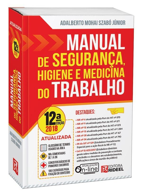 Imagem - Manual de Segurança, Higiene e Medicina do Trabalho - 12ª edição cód: 9788533950412