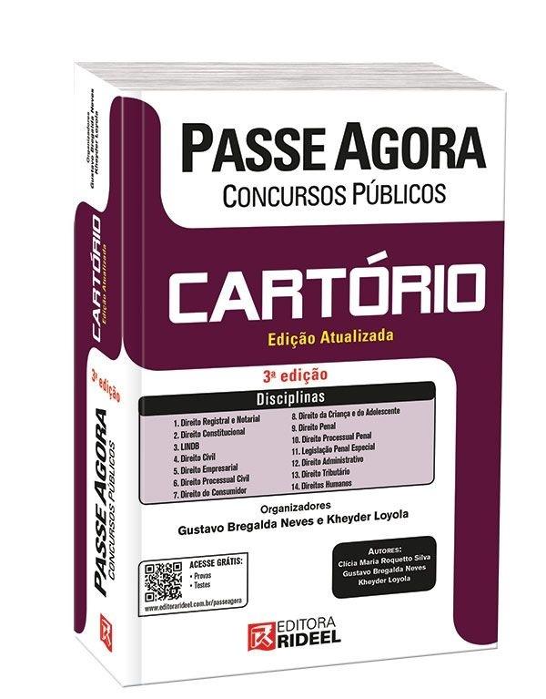 Imagem - Passe Agora em Concursos Públicos - Cartório - 3ª edição cód: 9788533928725