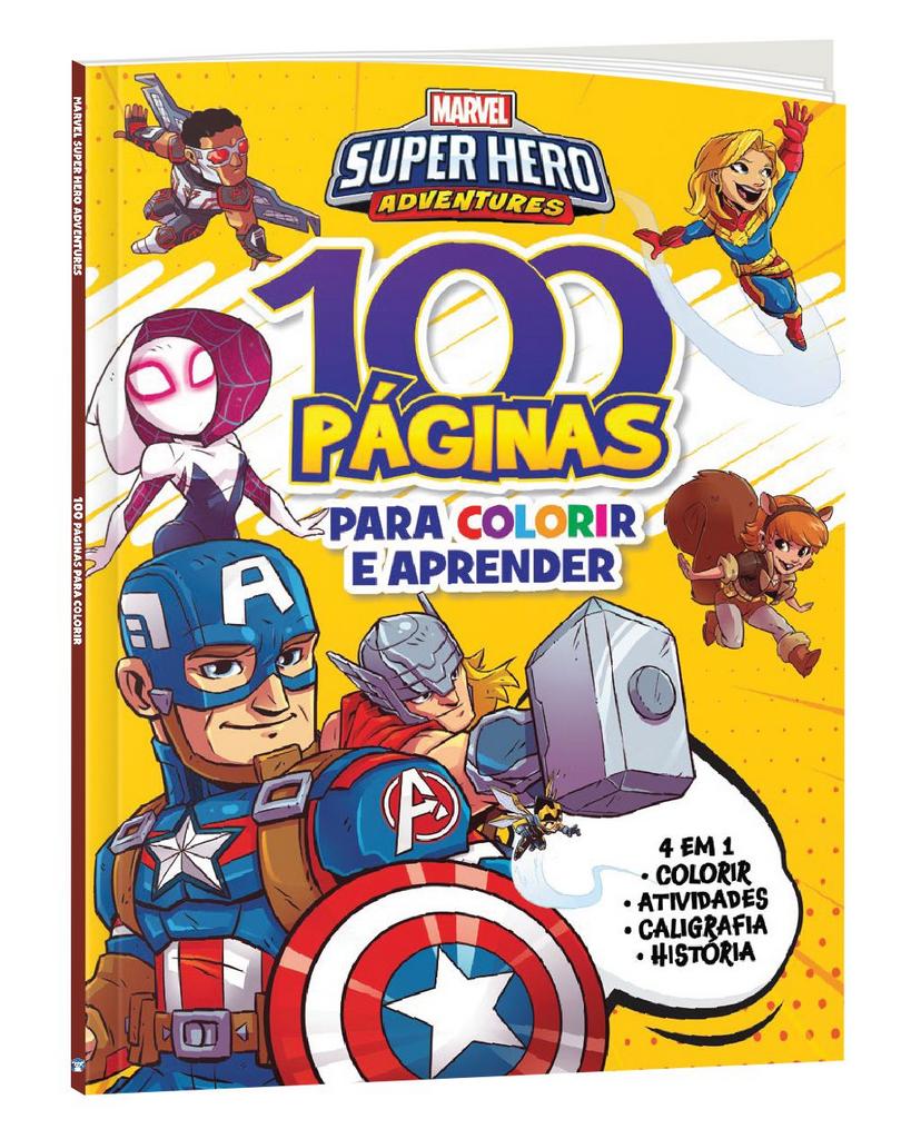 Imagem - 100 Páginas para Colorir Marvel - Super Hero cód: 9788533957336