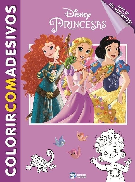 Imagem - Colorir com Adesivos Disney - Princesas cód: 9788533939288