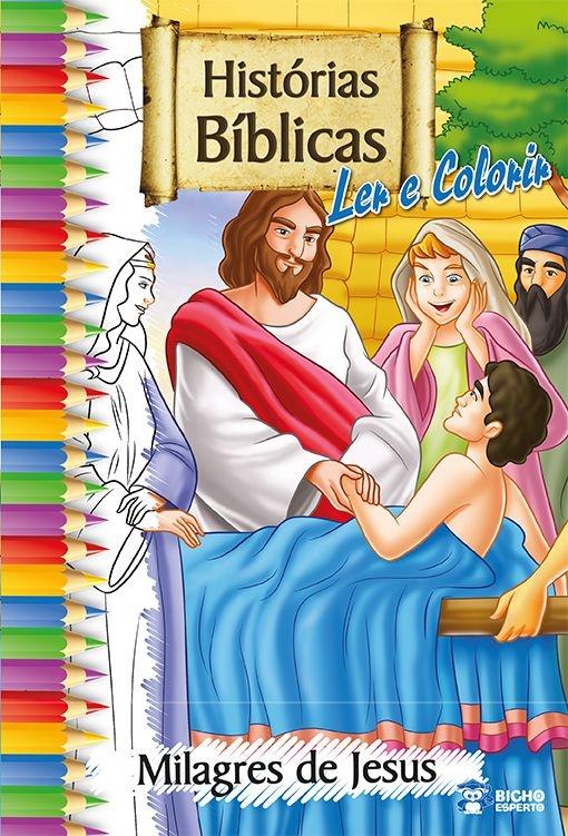 Imagem - Histórias Bíblicas para Ler e Colorir - Milagres de Jesus - 9788533924864