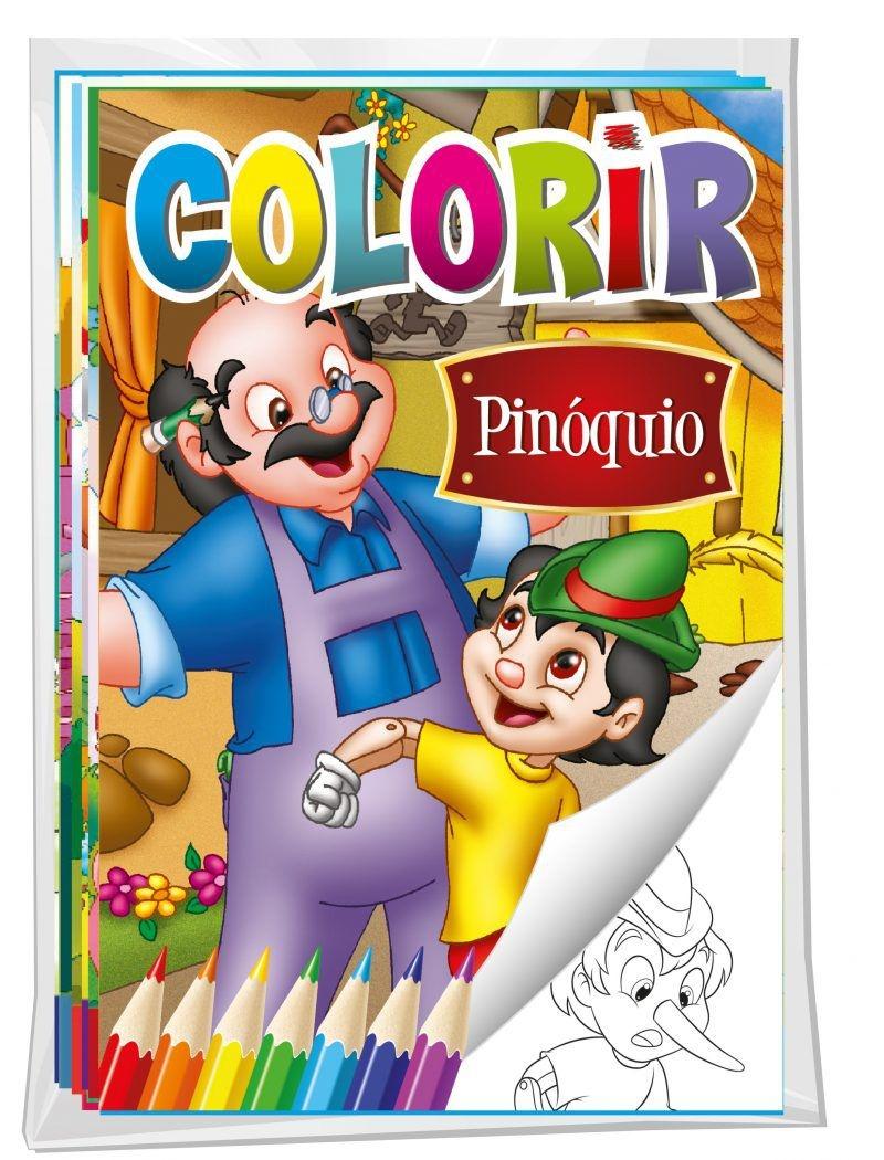 Imagem - Solapa Média Colorir (Pct com 08 temas diferentes) - Clássicos - 9788533929685
