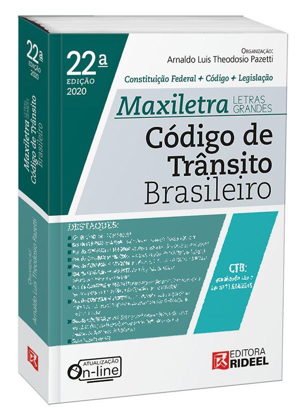 Imagem - Código de Trânsito Brasileiro - MAXILETRA - Constituição Federal+Código+Legislação - 2020 cód: 9788533958531